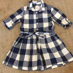 Other - Carters Navy and White Checkered Dress - 2T